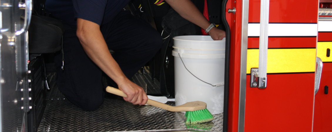Tailboard Tip: Cancer Prevention: Decon apparatus